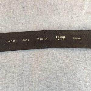 Fossil Accessories - Fossil black leather belt sz M